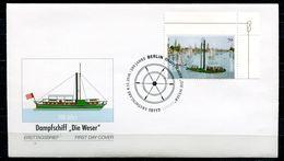 "Germany 2016 First Day Cover Mi.Nr.3273 (Bogenmarke) ""200 Jahre Dampfschiff-Die Weser ""1 FDC - FDC: Buste"