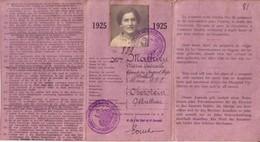Laisser-passer (Ausweis) Délivré Par L'Armée Française Du Rhin En 1925. 3 Volets. TB état. 2 Scan. - Documents Historiques