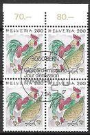 Schweiz Suisse 1994: Tiere Animaux Zu 869 Mi 1532 Huhn Poule Chicken (Gallus Gallus Domesticus) Block ET-o BERN 5.7.94 - Gallinacées & Faisans