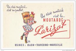 BUVARD MOUTARDE PARIZOT D'après Poulbot - Moutardes