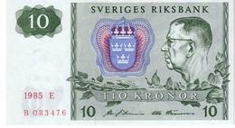 Sweden P.52 10 Kroner  1985 Unc - Sweden