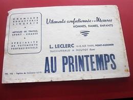 AU PRINTEMPS  VETEMENT-LECLERC PONT-AUDEMER-BUVARD Collection Illustré Publicitaire Publicité Textile & Vestimentaire - Textile & Clothing