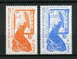 SPM MIQUELON 1987 N° 480/481 ** Neufs MNH Superbes C 1,65 € Pêche Poissons Fishes Fishing Faune Animaux - Neufs