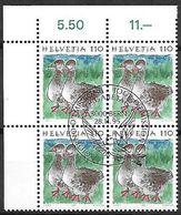 Schweiz Suisse 1995: Tiere Animaux Zu 865 Mi 1564 Gans Oie Goose (Anserinae) Block Mit ET-o BERN 28.11.95 - Oies