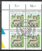 Schweiz Suisse 1995: Tiere Animaux Zu 866 Mi 1565 Schaf Mouton Sheep (Ovis) Block Mit ET-o BERN 28.11.95 - Ferme