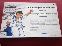 CHOCOLAT MENIER AVENTURES AVEC COMPAGNONS DE JACQUELINE- BUVARD Collection Illustré Publicitaire Publicité Chocolats - Cocoa & Chocolat