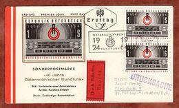 FDC, Eilboten Expres, Rundfunk, Wien Nach St Poelten 1964 (72107) - FDC