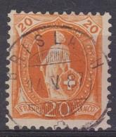 SUISSE 1882 :  Le ZNr 66A, TB Oblitéré Brislach Du 14.V.87 - 1882-1906 Wappen, Stehende Helvetia & UPU