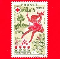 FRANCIA - Usato - 1975 - Primavera - Giochi - Altalena - Croce Rossa - 0.60+0.15 - Usati