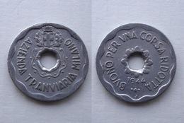 GETTONE TRANVIARIO MILANO 1944 J AMBURGO - Professionals/Firms