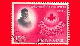 INDIA - Usato - 1957 - Henri Dunant (1828-1910) - Croce Rossa - Red Cross - 15 - 1950-59 Repubblica