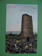 UZGEN Kyrgyzstan 1910 Market At The Ancient Tower. Russian Postcard - Kyrgyzstan