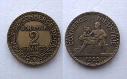 FRANCIA GETTONE DI NECESSITA' 2 FRANCHI 1924 - Monetari / Di Necessità