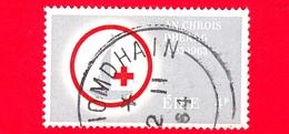 IRLANDA - EIRE - Usato - 1963 - 100 Anni Della Croce Rossa - Red Cross - Emblema - 4 - 1949-... Repubblica D'Irlanda