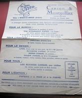 VIDALON-LES-ANNONAY ARDECHE PAPIER CANSON & MONGOLFIER BUVARD Collection Illustré Publicitaire Publicité Papeterie - Stationeries (flat Articles)