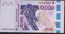 W.A.S. BENIN P218Bp 10000 Francs (20)16 Dated 2016 UNC. ! - Bénin