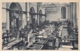 COLLE VAL D'ELSA-SIENA-OFF.DELLA R. SCUOLA INDUSTRIALE-DEDICA DI MUSSOLINI-SCRITTA SUL MURO-CARTOLINA ANNO 1930-1935 - Siena