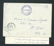 """Sur Lac De 1951 MARQUE MILITAIRE à IDENTIFIER """" Intendances D'étapes 414 - SP 59012 - BPM 415-  Raa2103 - Postmark Collection (Covers)"""
