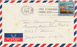 New Zealand Air Mail Cover Sent To Denmark 10-2-1984 - Airmail