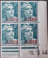 R1949/458 - 1945 - COLONIES FR. - ALGERIE - TYPE MARIANNE DE GANDON - N°237 BLOC NEUF** CdF Daté - Algérie (1924-1962)