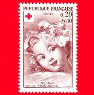 Nuovo - MNH - FRANCIA - 1962 - Croce Rossa - Fragonard (1732-1806) - 'Rosalie Fragonard' - 0.20+0.10 - Nuovi