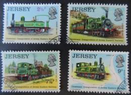JERSEY 1973 EASTERN RAILWAY SET OF 4 VFU TRAINS CALVADOS NORTH WESTERN CARTERET CAESAREA - Jersey