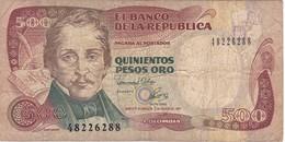 BILLETE DE COLOMBIA DE 500 PESOS DE ORO DEL AÑO 1992  (BANK NOTE) - Colombia