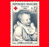 Nuovo - MNH - FRANCIA - 1965 - Auguste Renoir (1841-1919) - Bambino - Croce Rossa - Red Cross - 0.25+0.10 - Nuovi