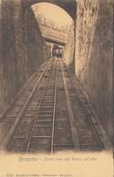 BERGAMO-FUNICOLARE DAL BASSO VERSO L'ALTO-CARTOLINA NON VIAGGIATA ANNO 1915-1925 - Bergamo