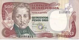 BILLETE DE COLOMBIA DE 500 PESOS DE ORO DEL AÑO 1993  (BANK NOTE) - Colombia