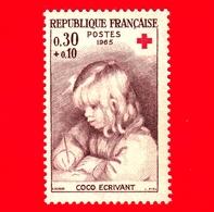 Nuovo - MNH - FRANCIA - 1965 - Auguste Renoir (1841-1919) - Coco Escrivant - Croce Rossa - Red Cross - 0.30+0.10 - Nuovi