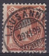 SUISSE 1895 :  Le ZNr 68D, TB Oblitération De Lausanne Du 29.XI.99 - 1882-1906 Wappen, Stehende Helvetia & UPU