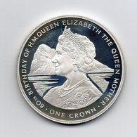 Gibilterra - 1980 - 1 Crown - Proof - 80° Compleanno Della Regina Madre Elisabetta - Argento 925 - (MW2146) - Gibilterra