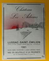 10308 - Château Les Adams 1981 Lussac Saint-Emilion - Bordeaux
