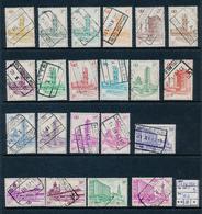 BELGIQUE BELGIUM COB TR336/354B USED - 1952-....