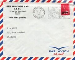 Saint-Denis RP Réunion 1971 - Flamme Théâtre Festival - Issop Amode - Lettres & Documents