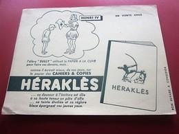 HERAKLES  CAHIER  COPIES  -BUVARD Collection Illustré Publicitaire Publicité Papeterie - Stationeries (flat Articles)