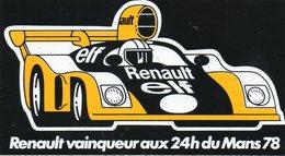 Autocollant RENAULT 24 H DU MANS 78 - Stickers