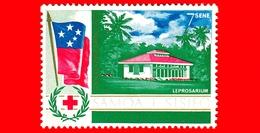 Nuovo - MNH - SAMOA E SISIFO - 1967 - Croce Rossa - Servizio Sanitario Del Sud Pacifico - Lebbrosario - 7 - Samoa