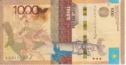 BILLETE DE KAZAJISTAN DE 1000 TEHTE DEL AÑO 2014 (BANKNOTE) VOLCAN - Kazakhstán