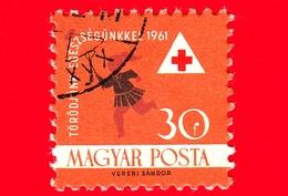UNGHERIA - Usato - 1961 - Croce Rossa - Red Cross - Assistenza Sanitaria - Bambino Che Insegue Farfalla - 30 - Ungheria