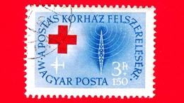 UNGHERIA - MAGYAR - Usato - 1957 - Croce Rossa - Red Cross - Ospedale Per I Lavoratori Postali - Televisione - 3+1.50 - Ungheria