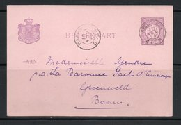 ENTIER POSTAL / CARTE POSTALE / BRIEFKAART / 1892 - 2 1/2 Cent : BAARN - Interi Postali