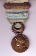 Médaille Commémorative Délivrée Aux Survivants De La Guerre Du Levant En Syrie-Cilicie + Barrette + Diplome.  2 Scan - France