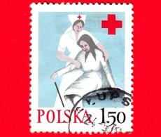 POLONIA - Usato - 1977 - Croce Rossa - Red Cross - 1.50 - 1944-.... Repubblica