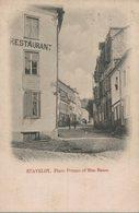Stavelot - Place Prume Et Rue Basse - Restaurant - 2 Scans - Stavelot