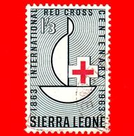 SIERRA LEONE - Usato - 1963 - Centenario Della Croce Rossa - Red Cross Centenary - 1'3 - Sierra Leone (1961-...)