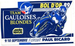 Autocollant GAULOISE MOTOS BOL D'OR 89 - Aufkleber