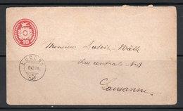 ENTIER POSTAL / CARTE POSTALE /POSTKARTE / 1875 LUCENS LAUSANNE - Interi Postali
