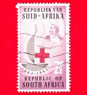 SUD AFRICA - Usato - 1963 - 100 Anni Della Croce Rossa - Red Cross - 2 ½ - Sud Africa (1961-...)